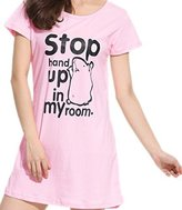 Godsen Women's Nightgown Nightshirts Short Sleeve Sleepwear (M, )