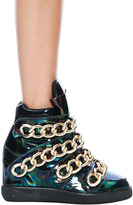 Jeffrey Campbell Almost Sneaker in Black/Gold