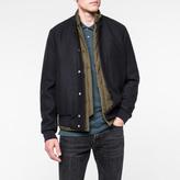 Paul Smith Men's Navy Wool-Cashmere Bomber Jacket