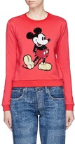 Marc Jacobs Sequin Mickey shrunken cotton terry sweatshirt