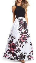 Xscape Evenings Women's Print Ballgown