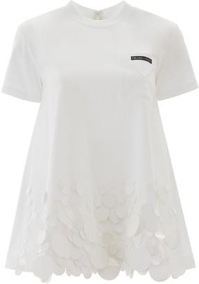 Prada Sequins Hem T-Shirt