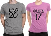 Sugar Yeti King - Queen Newly Married Couple Matching T-shirt Honeymoon valentines day |