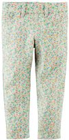 Carter's Girls 4-8 Floral French Terry Jeggings