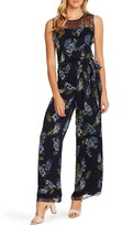 Vince Camuto Weeping Willows Floral Sleeveless Jumpsuit