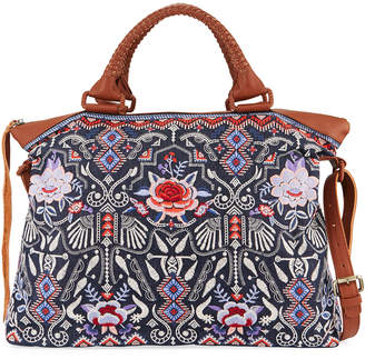 Johnny Was Amarynth Overnight Embroidered Tote Bag