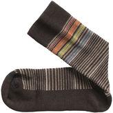 Johnston & Murphy Wool-Blend Mini-Stripe Socks
