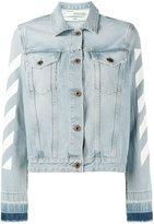 Off-White striped denim jacket - women - Cotton - 38