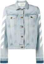 Off-White striped denim jacket - women - Cotton - 40