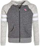 Abercrombie & Fitch COLORBLOCKED CORE FULLZIP Tracksuit top dark grey/light grey