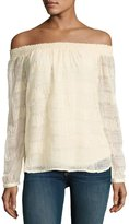 Bailey 44 Burnout Off-the-Shoulder Top, White