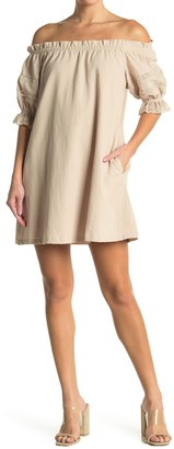 Lush Off-the-Shoulder Mini Dress
