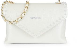 Mario Valentino Lynn Preciosa Dollaro Pebbled Leather Crossbody Bag