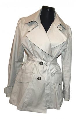 Massimo Dutti Beige Cotton Trench coats