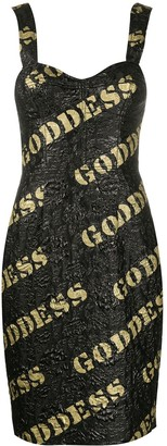 Moschino Goddess sequin-embroidered mini dress