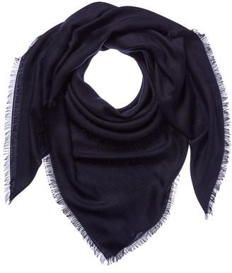 Gucci Gg Jacquard Silk & Wool-Blend Shawl