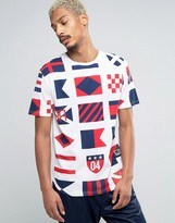 Reason T-Shirt With Flag Print