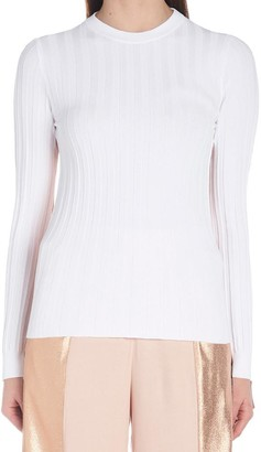 Nude Two-Toned Ribbed Jumper