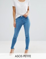 Asos Sculpt Me Premium Jeans in Kelly Bright Blue Wash
