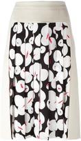 Jil Sander Navy pleated panel skirt - women - Acetate/Cupro/Polyester - 36