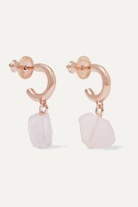 Monica Vinader + Caroline Issa Rose Gold Vermeil And Rose Quartz Earrings - one size