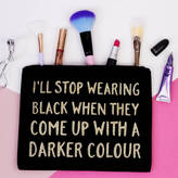 Elsie & Nell 'I'll Stop Wearing Black' Makeup Bag