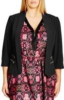 City Chic Plus Size Women's Double Zip Jacket