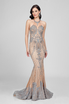 Terani Evening - Goddess-like Shining Halter Neck Beaded Mermaid Gown Couture1722E4249