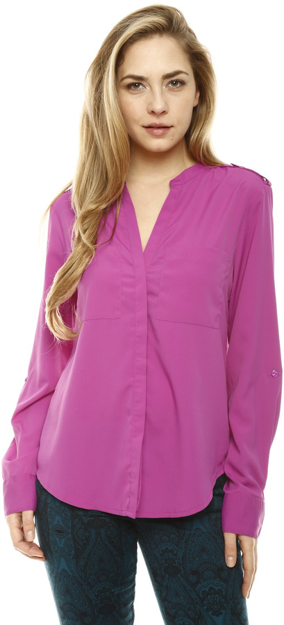 Sanctuary Button Down Blouse