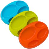 Boon Platter Edgeless Stayput Divider Bowl - Blue/Green/Orange - 3 ct
