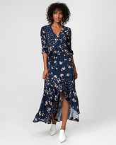 Le Château Floral Print High-Low Maxi Dress