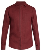 Giorgio Armani Single-cuff Linen Shirt