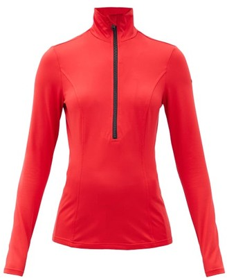Goldbergh Serena Half-zipped Jersey Base-layer Top - Red