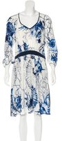 Roberto Cavalli Silk Shell Print Dress