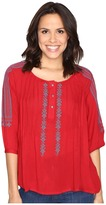 Rock and Roll Cowgirl 3/4 Sleeve Blouse B4-9103