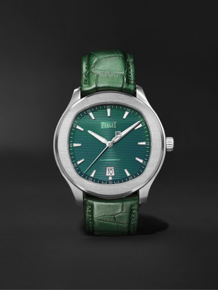 Piaget Polo S Limited Edition Automatic 42mm Stainless Steel And Alligator Watch, Ref. No. G0a44001