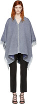 Chloé Blue V-neck Poncho
