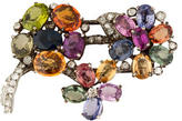 Cartier Platinum Sapphire, Peridot & Diamond Brooch