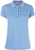 Moncler striped trim polo shirt - women - Cotton - M