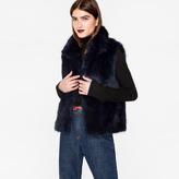 Paul Smith Women's Navy Faux-Fur Gilet