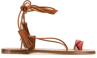Etro Strappy Ankle Tie Sandals