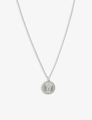 Serge Denimes Wing engraved necklace