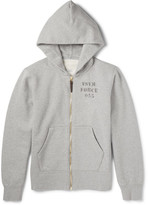 Visvim Stencil-print Cotton-blend Jersey Zip-up Hoodie