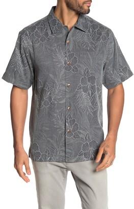Tommy Bahama Oceanside Tropics Button Down Silk Hawaiian Shirt