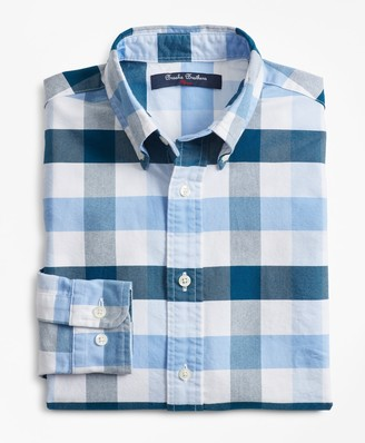 Brooks Brothers Boys Cotton Oxford Bold Gingham Sport Shirt