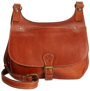 Patricia Nash Heritage London Smooth Leather Crossbody Saddle Bag