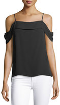 Theory Off-the-Shoulder Classic Georgette Top