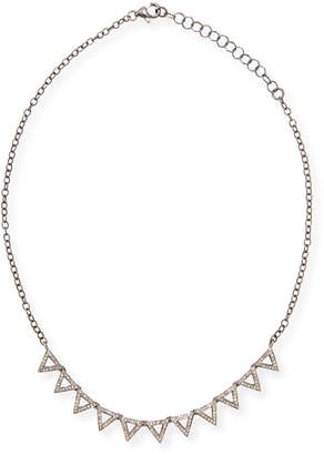 Siena Jewelry Diamond Triangle Necklace