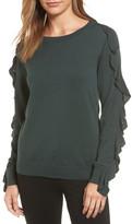 Halogen Ruffle Sleeve Sweater (Regular & Petite)
