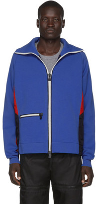 MONCLER GRENOBLE Blue Knit Bomber Jacket